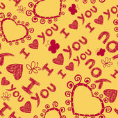 I love you seamless pattern — Vettoriale Stock