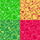 'I love you' seamless pattern. — Cтоковый вектор