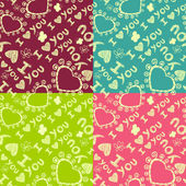 'I love you' seamless pattern. — Vector de stock
