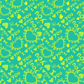 """I love you"" seamless pattern — Stok Vektör"