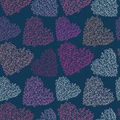 Vetor sem costura coração textura — Vetorial Stock