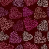 Vector corazón transparente textura — Vector de stock