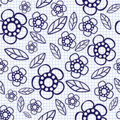 Floral seamless pattern with flowers and leaves — Stock Vector