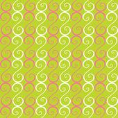 Vector naadloze patroon met krullend elementen — Stockvector