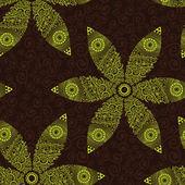 Texture transparente floral. dessin de fleurs de printemps. — Vecteur