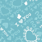 Romantic seamless pattern. I love you. — Stockvector