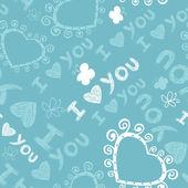Romantik seamless modeli. seni seviyorum. — Stok Vektör