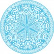 Original snowflake — Stock Vector