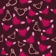 Flying hearts seamless pattern — Grafika wektorowa