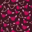 Flying hearts seamless pattern — Stockvektor