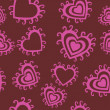 Romantic seamless pattern — Vector de stock #21236131