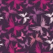 Royalty-Free Stock Vector Image: Butterfly seamless pattern