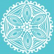 Original vector snowflake — Stock Vector