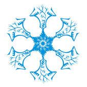 Copo de nieve original — Vector de stock