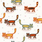 Wzór z koty kotów kreskówka — Wektor stockowy