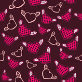 Flying hearts seamless pattern — Stok Vektör