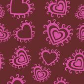 Padrão sem emenda romântico. — Vetorial Stock