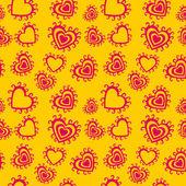 Romantiska seamless mönster. — Stockvektor
