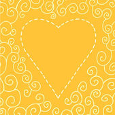 Valentins Day card with heart — Stock Vector