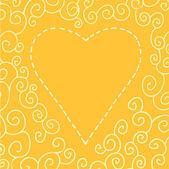 Carta di giorno Valentins con cuore — Vettoriale Stock