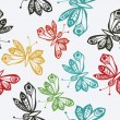 Romantic butterfly seamless pattern. — Stock Vector #21444945