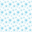 Stock Vector: Seamless snowflake background