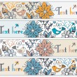 Stylish floral banners — Stock Vector
