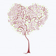 Tree heart — Stockvectorbeeld