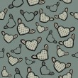 Flying hearts — Vector de stock