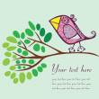 Bird on a branch — Stock Vector