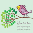 Bird on a branch — Stock Vector #21449539