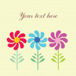 Stock Vector: Flower card design