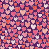 Patroon met hart. — Stockvector