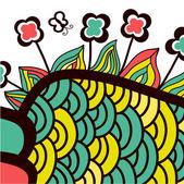 Colorful abstract garden. — Stock Vector
