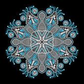 Dekorativa runda mönster — Stockvektor