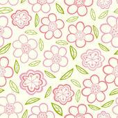Floral naadloze textuur. — Stockvector