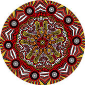 Indian ornament, kaleidoscopic floral pattern — Stok Vektör