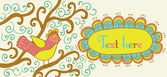 Ilustração vintage de pássaro — Vetorial Stock