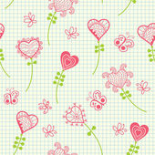 Romantic flowers — Vector de stock