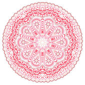 Indian ornament, kaleidoscopic floral pattern — Stock Vector