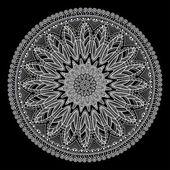 Ornement indien, motif floral kaléidoscopique, mandala. — Vecteur