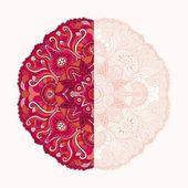 Flor ornamental del cordón redondo — Vector de stock