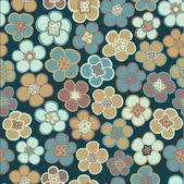 Texture transparente avec des fleurs, motif floral. — Vecteur