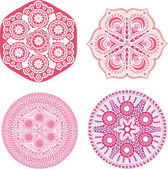 Adorno indio, caleidoscópica patrón floral — Vector de stock