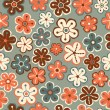 Seamless texture with flowers, Floral pattern. — Stok Vektör