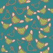 Flying hearts seamless pattern — Imagen vectorial