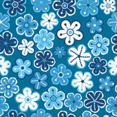 Naadloze textuur met bloemen, floral patroon. — Stockvector