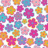 Seamless texture with flowers, Floral pattern. — Stock Vector