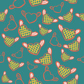 Flying hearts seamless pattern — ストックベクタ