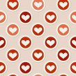 Romantic seamless pattern with hearts — Grafika wektorowa